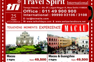 Touching Moments Experience Macau packages from TSI holidays