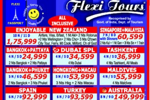 International Tours Travel Packages from Flexi Tours @ 24999