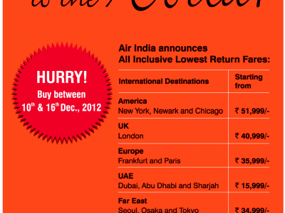 Now Jaldi Jaldi to the world from Air India