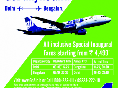 Go Daily Return Flight package from Go Air