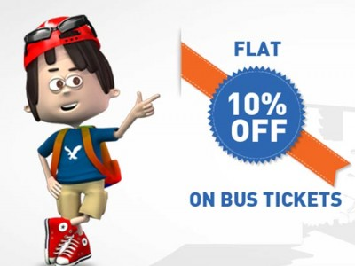 Flat 10% off on Bus tickets from goibibo