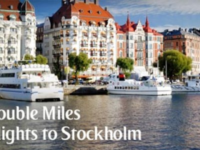 Enjoy Double miles on flights to Stockholm from emirates