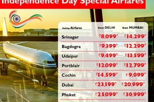 Independence Day Special Airfares from flightshop