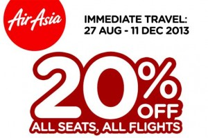 20% OFF on all Flights deal from air asia