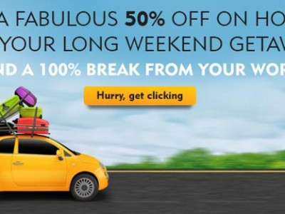 Get Fabulous Discount on Hotels on Long Weekends from expedia