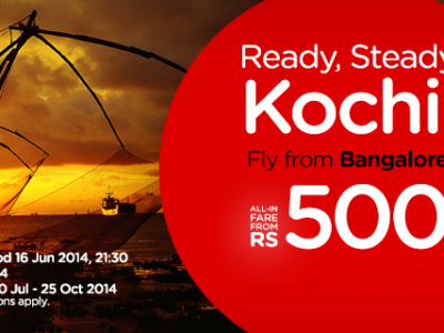 AirAisa India Bangalore to Kochi Flights for Rs 500 only