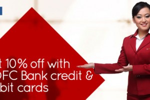 Get 10% Off With HDFC  Credit & Debit Cards From Spice Jet
