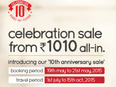 Spicejet Sale Air fares starting at Rs. 1010 On Domestic Network