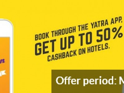 Get Up To 50 % Cash Back On Hotels By Yatra