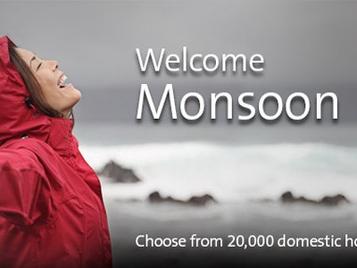 Monsoon Bonanza – : Upto 55% cashback on domestic hotels