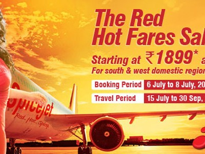 Book Your Domestic Flight At Rs 1899 On Red Hot Fares Sale By Spice Jet