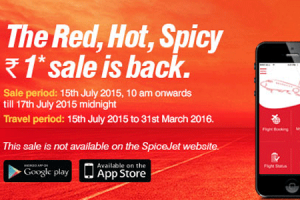 Spice Jet Offers Red Hot Spicy Sale @ Rs 1