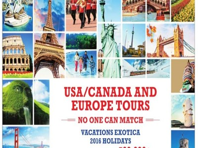 Attractive USA/ Canada And Europe Tour Package By Vacations Exotica