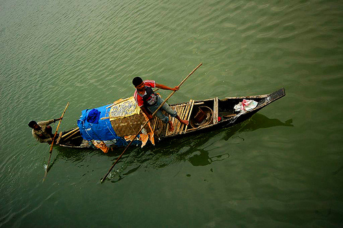 Boating in the Brahmputra River