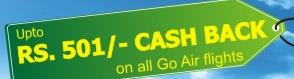 TravelChacha GoAir Flights Cashback Offer
