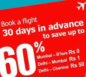 60% Discount on Domestic Flight Tickets with Yatra