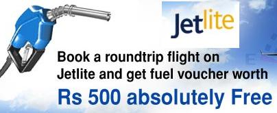 Fuel offer from JetLite and Cleartrip