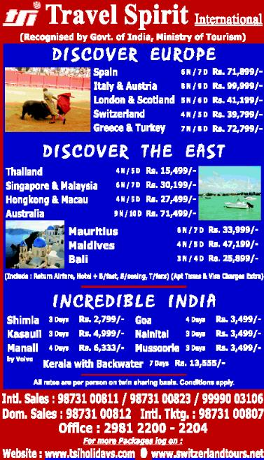 Europe, South East Asia and Domestic Tours with TSI