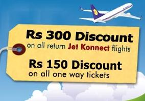 Jet Airways and Jet Konnect Flight Tickets