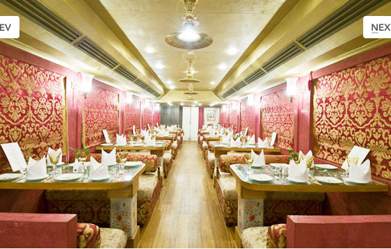 Royal Rajasthan Train Dining Area