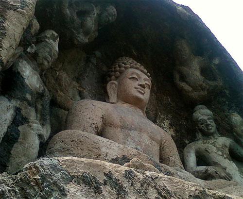 Buddha at Bojjanakonda Cave in Andhra Pradesh