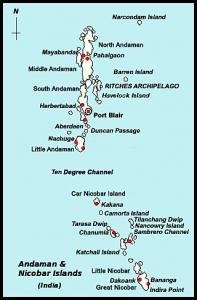 Andaman and Nicobar Travel Map
