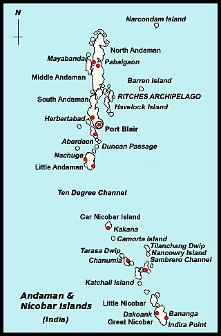 Andaman and Nicobar Travel Map