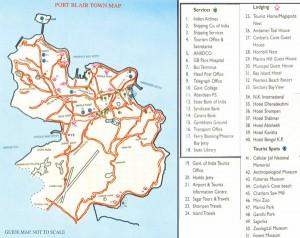Port Blair Tourist Guide Map
