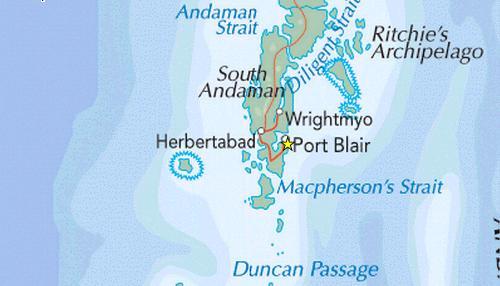 Port Blair Map