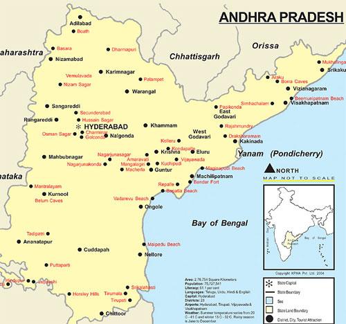 Andhra Pradesh Tourist Maps Andhra Pradesh Travel Maps Andhra ...
