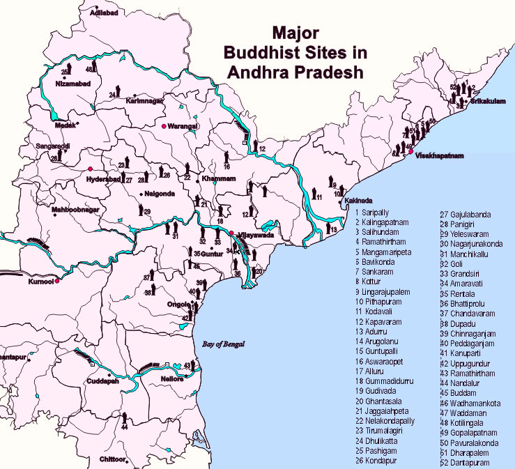 List of Buddhist Sites in Andhra Pradesh