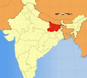 Location Map of Bihar