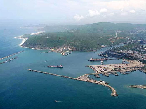 Arieal view of Vizag Seaport