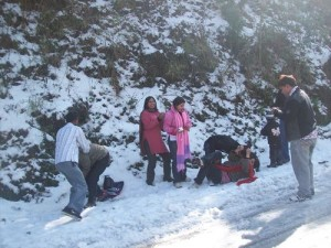 Snow Game in Nainital