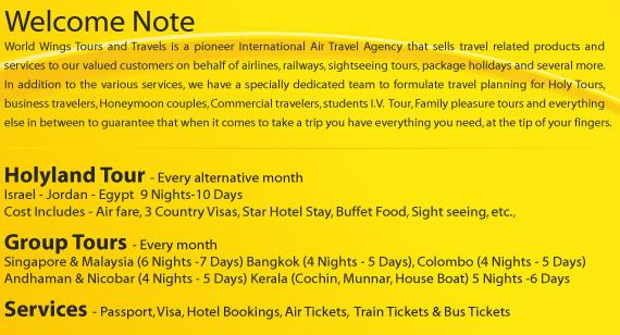 About World Wings Tours and Travels Company