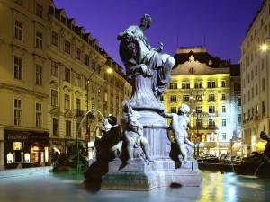 Donnerbrunnen Fountain Vienna Austria