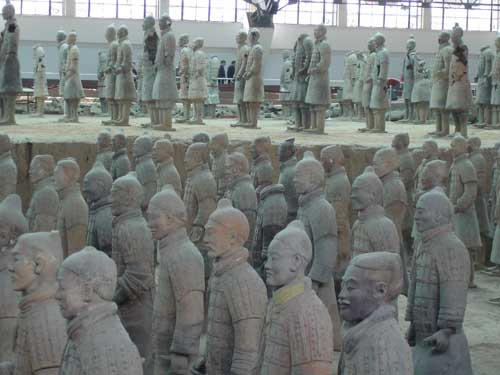 China terra cotta warriors in Xian