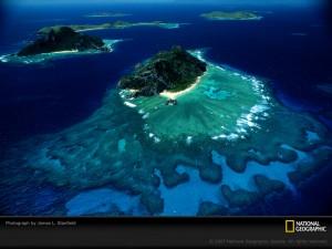 fiji islands melanesia aerial