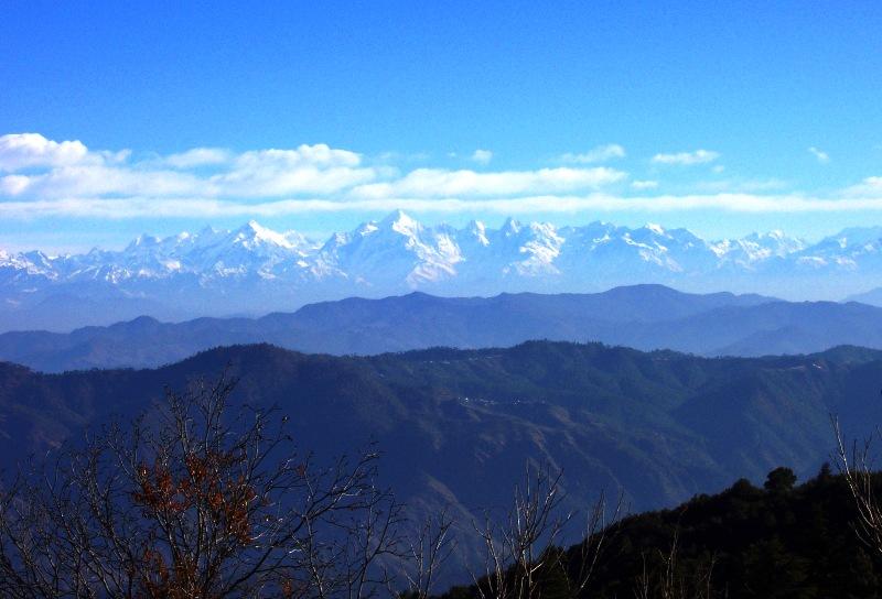 Panchachuli Peaks from Mukteshwar