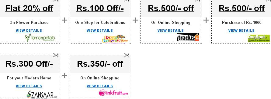 Snapdeal promo codes & new users discount coupons