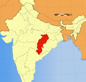 Chhattisgarh Location