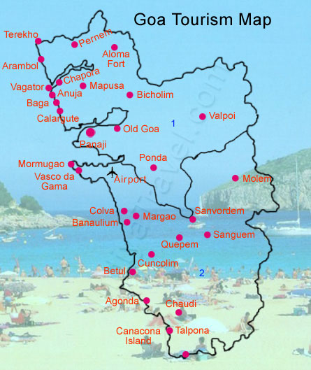Goa Tourist Map