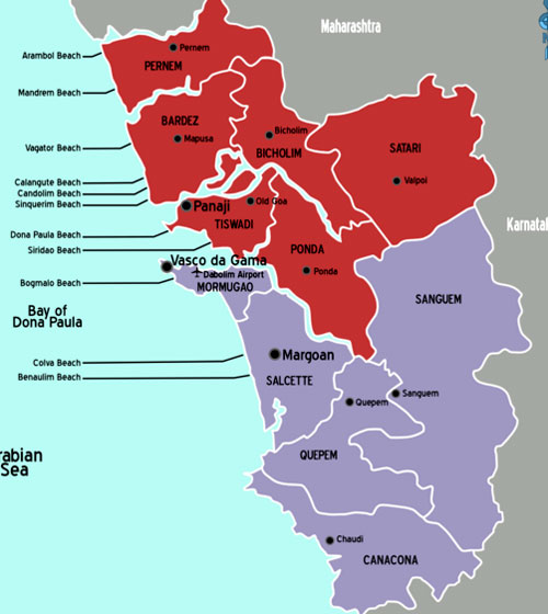 Goa Tourist Maps - Goa Travel Google Maps - Free Goa Maps on golden triangle india map, north india map, northern plain india map, india travel map,