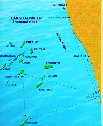 Lakshadweep Travel Map
