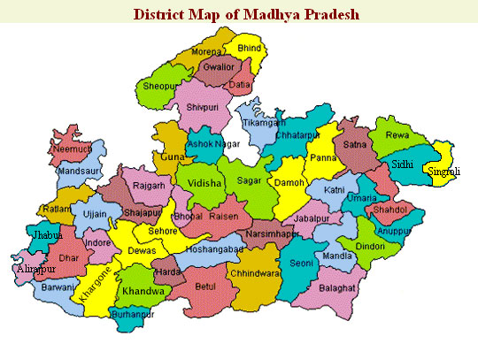 Madhya Pradesh District map