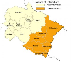 Uttarakhand District map