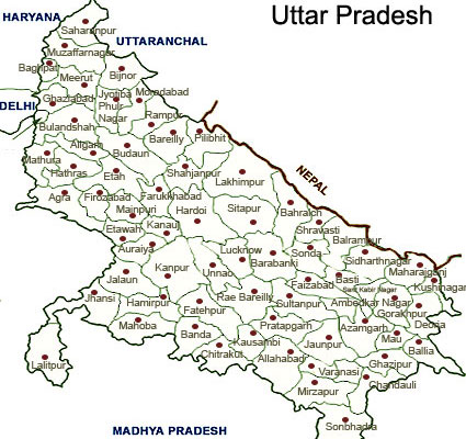 Map Up.Uttar Pradesh Tourist Maps Uttar Pradesh Travel Maps Uttar Pradesh