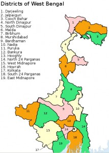 West Bengal District Map