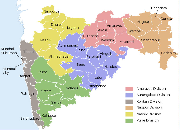 Districts and Divisions in Maharashtra