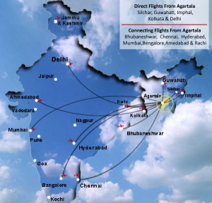 Tripura Flight Network from Various Indian Cities